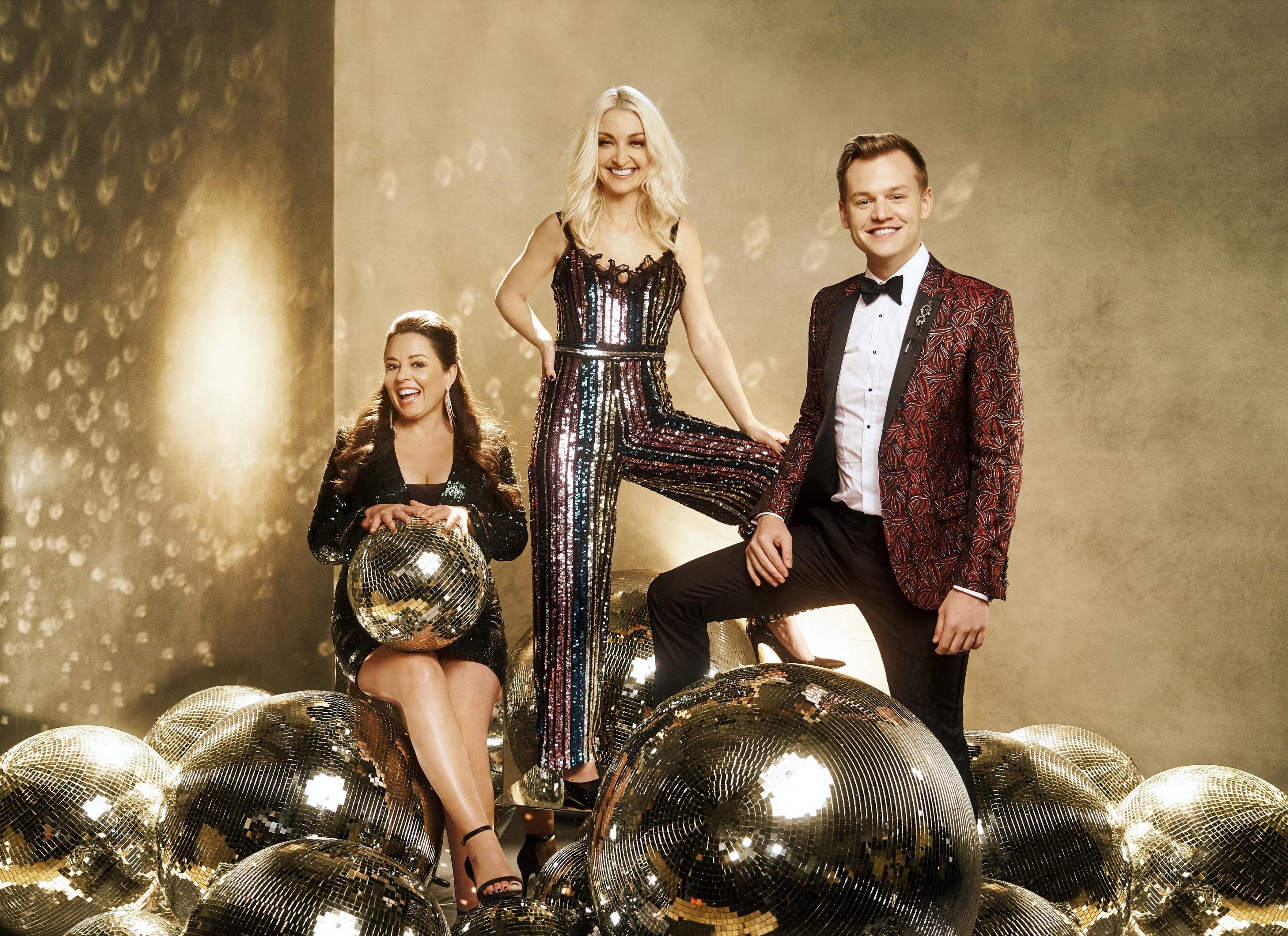 Myf Warhurst, Kate Miller-Heidke and Joel Creasey, Australia. Image source: SBS