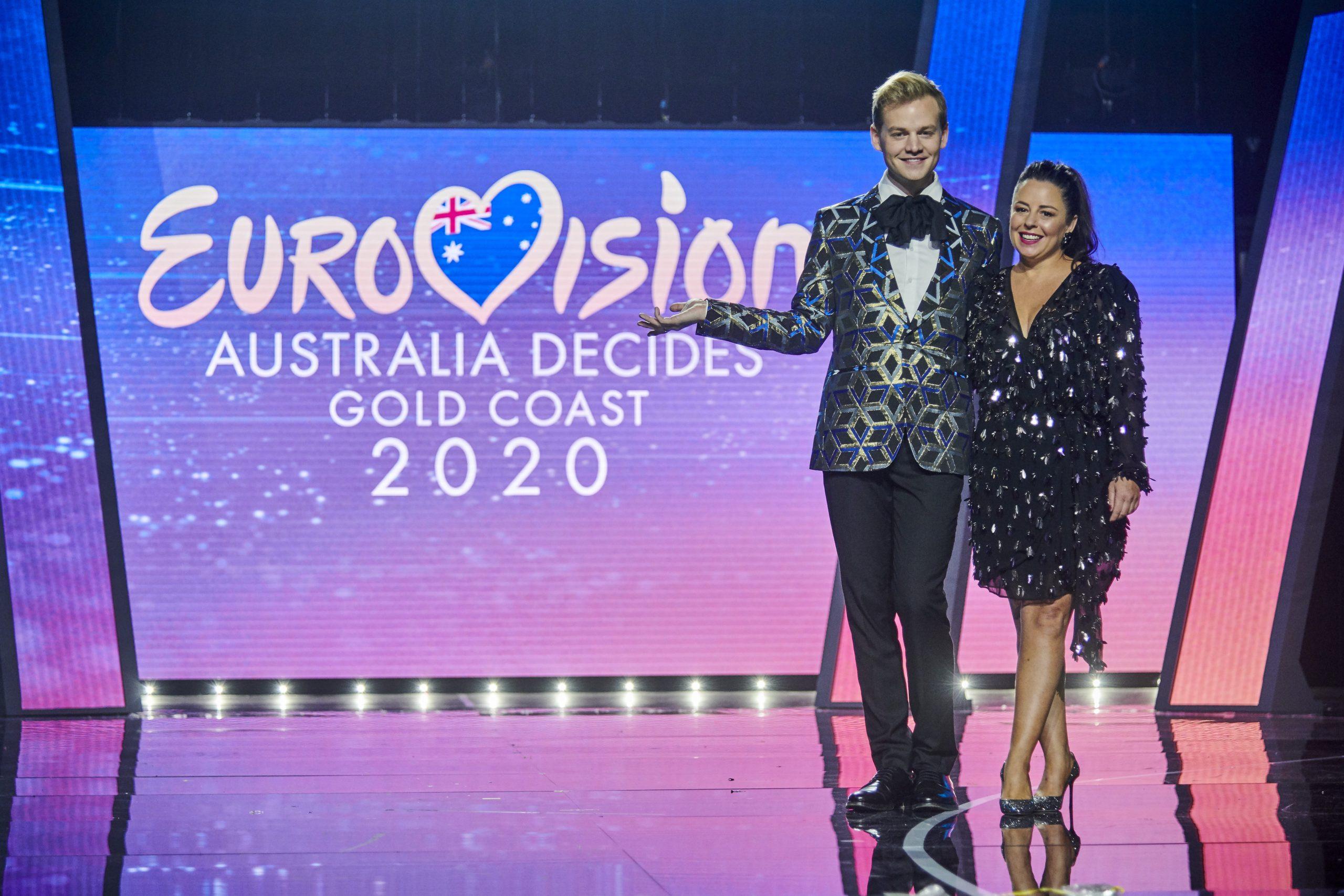 Joel Creasey and Myf Warhurst, Australia. Image source: SBS